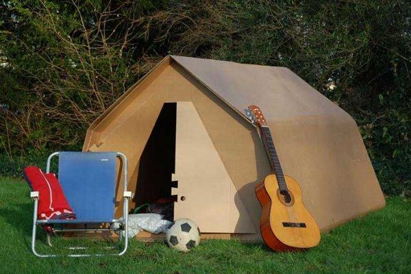book cardboard tent kartent for Glastonbury 2020