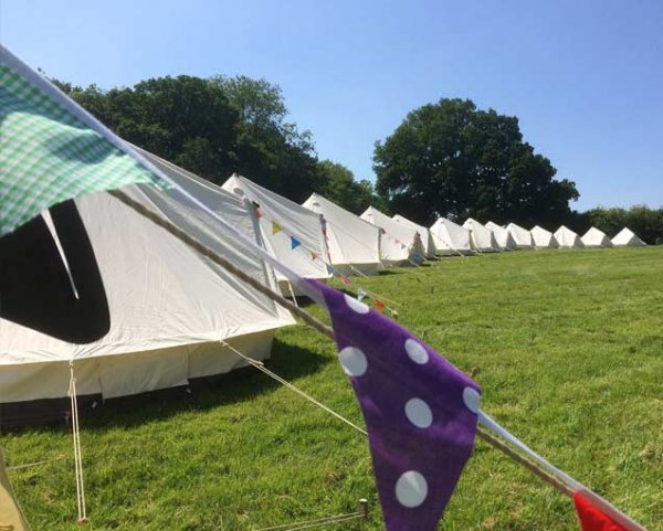 book empty bell tents