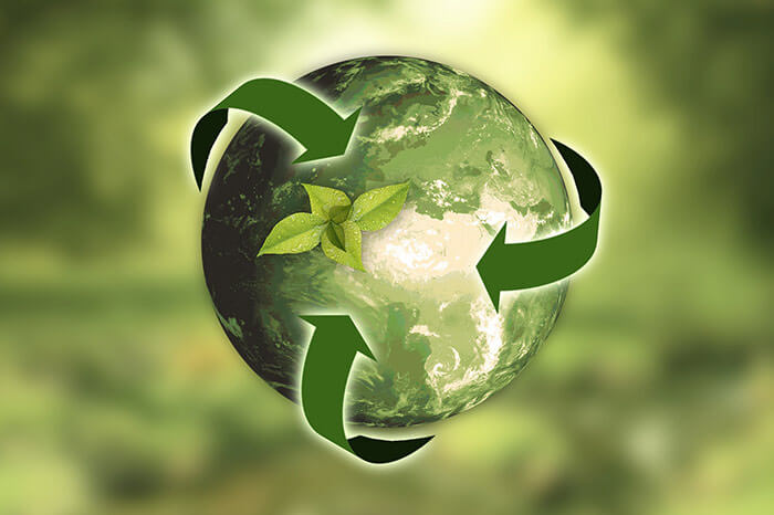 camspsite recycling environmentally friendly