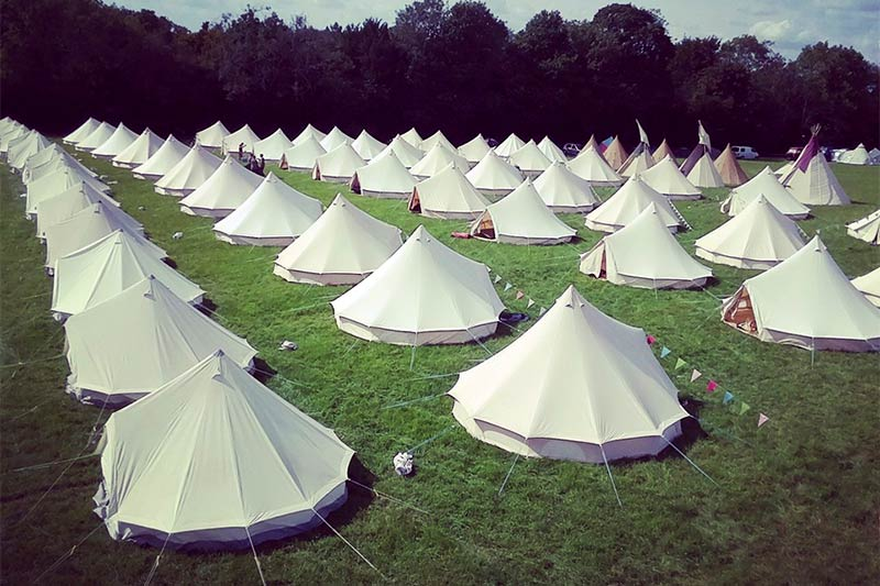 book hire bell tent for glastonbury 2020