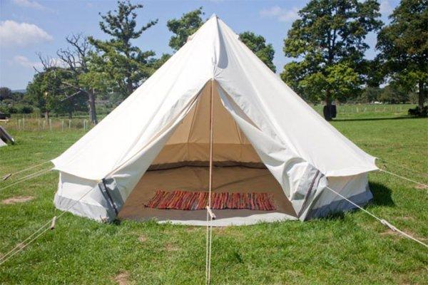 glastonbury empty bell tent hire