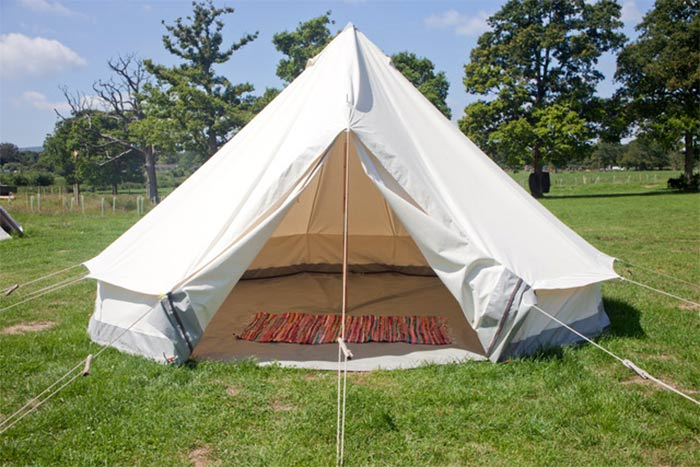 book empty bell tent at glastonbury