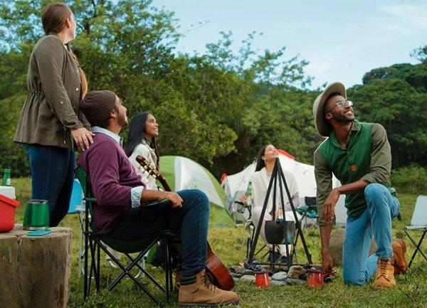 self pitching camping glastombury 2020