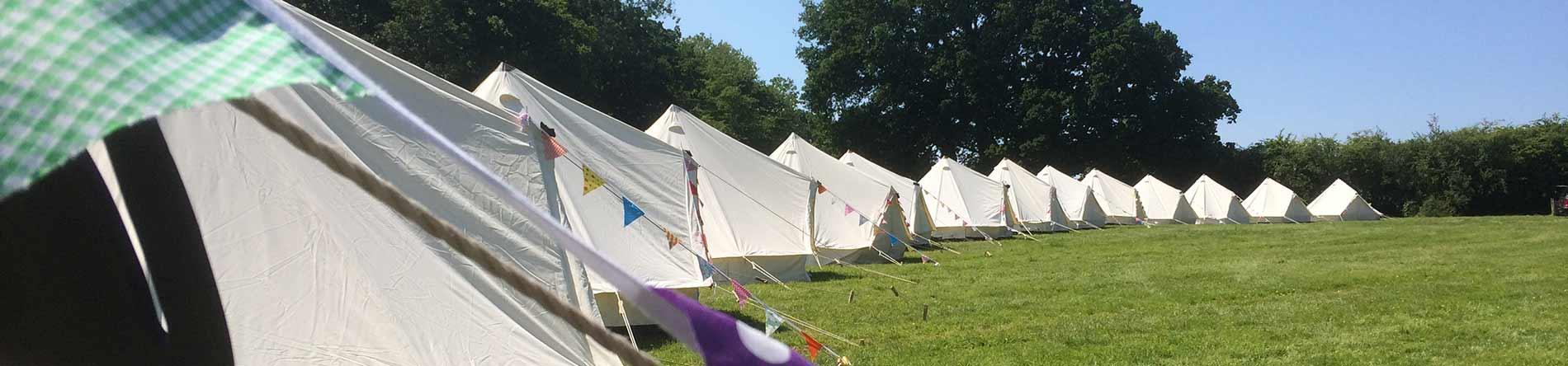 sustainable eco glastonbury camping